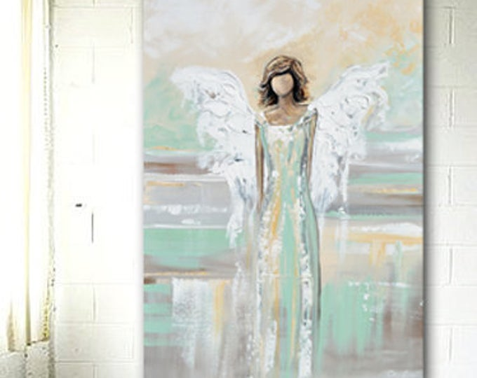 Original Angel Painting Fine Art Guardian Angel Oil Painting On Canvas Modern Abstract Ar Original Art Painting Abstract Art Painting Modern Artwork Abstract