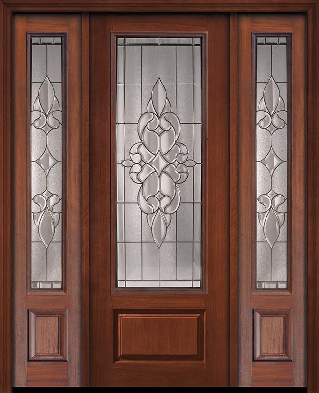 96 1 Panel 3 4 Lite Courtlandt Walnut Cherry Door 2side Puertas De Entrada Aluminio Diseno Ventanas Puertas De Entrada De Madera