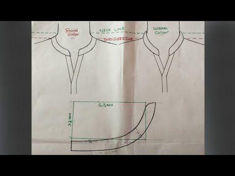 Round collar neck design cutting and stitching DIY tutorial Part 1 - YouTube aeb1e6c54