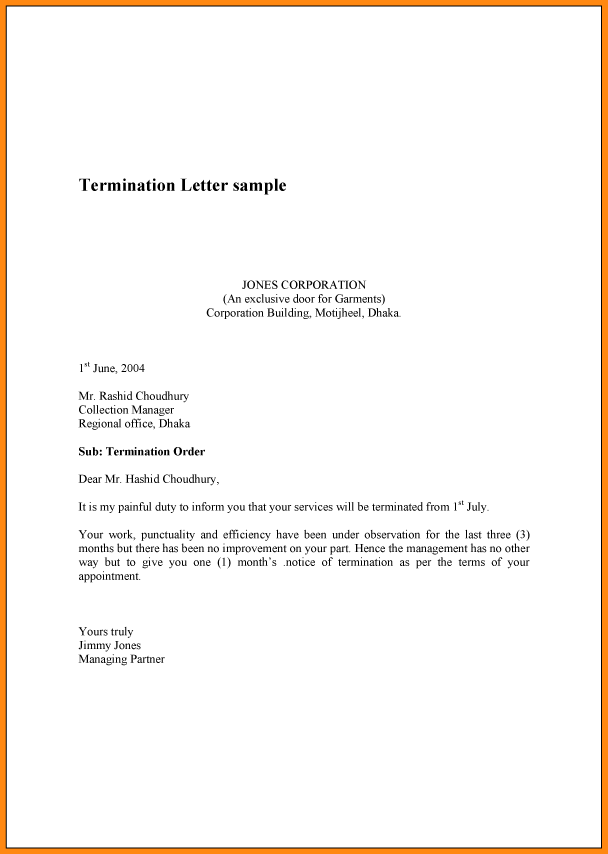 How Write Cancellation Letter Termination Sample Example