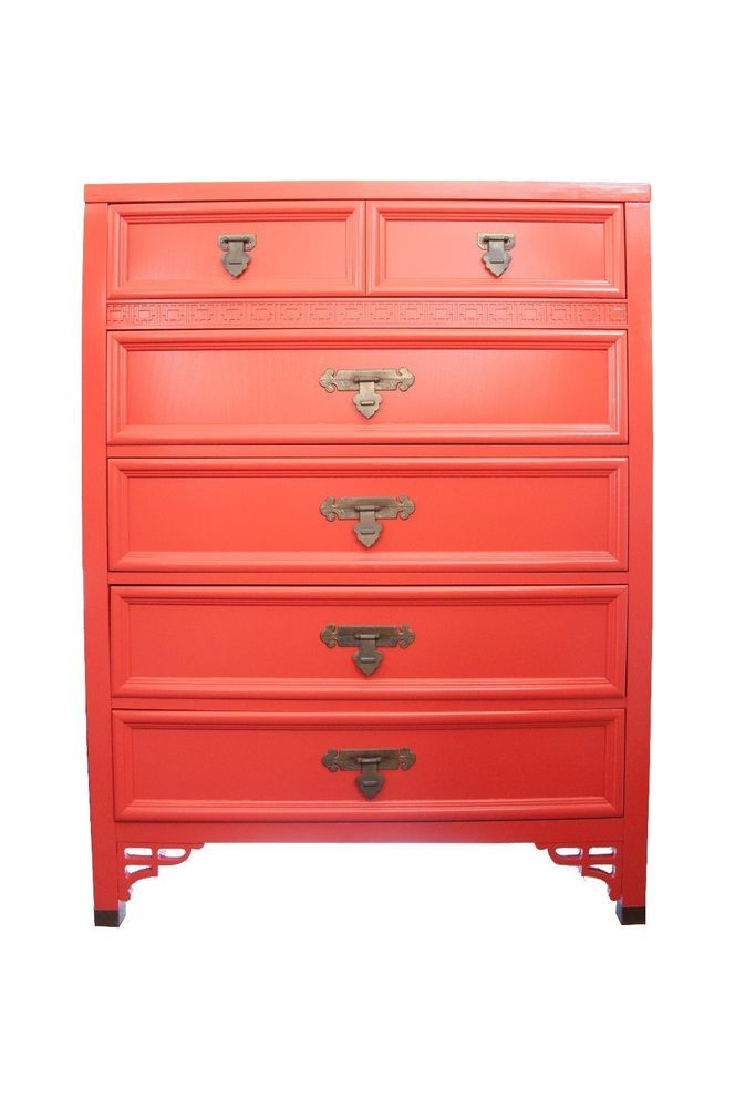 Hollywood Regency Shangri La Chinoiserie Dresser Chest By Dixie