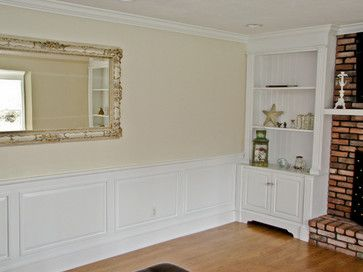 Classic Colonial Raised Panel Wainscoting traditional living room