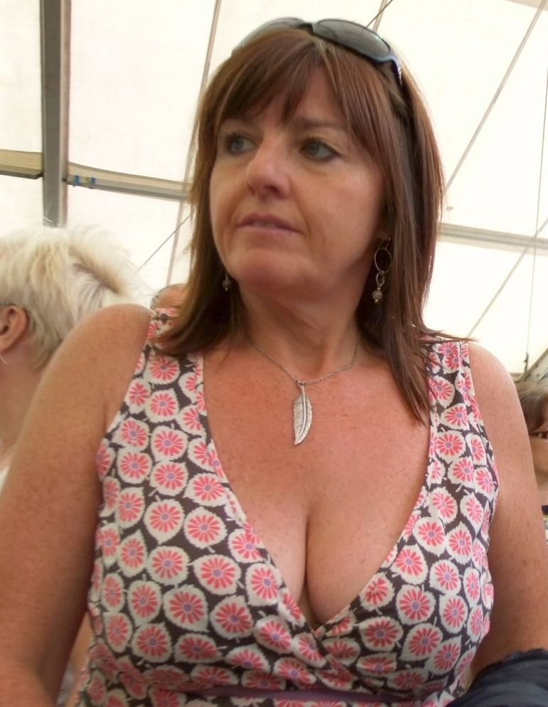 Busty buxom heavy top woman