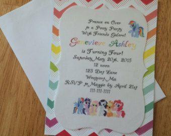 Pony Birthday Invite by ckfireboots on Etsy