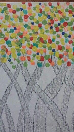 Canvas board paint idea