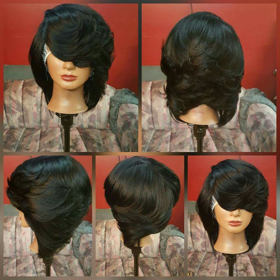 feathered black bob   hair styles and ideas!   pinterest   black