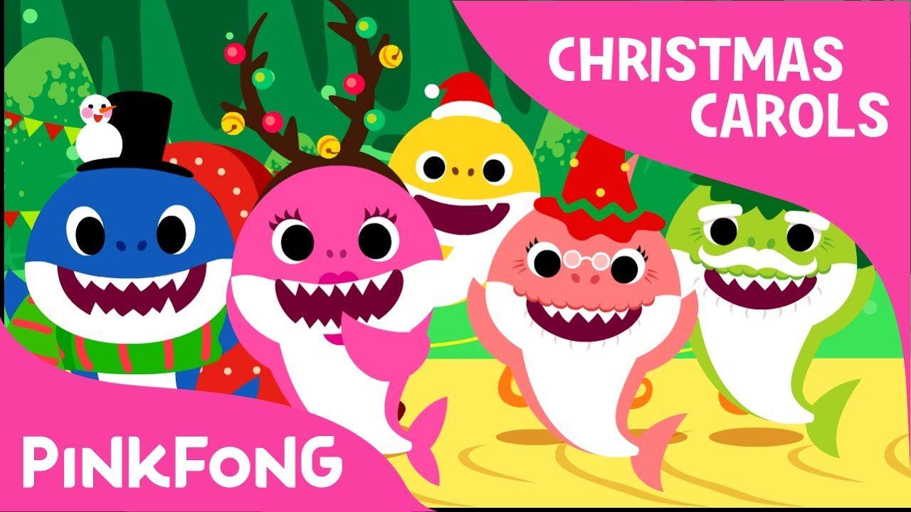 Christmas Sharks Christmas Carols Pinkfong Songs For Children Baby Shark Song Kids Songs Baby Shark Song Video