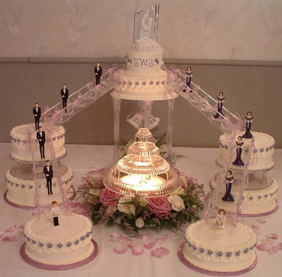 Pin By Chrystal Hartman On Wedding Fountain Wedding Cakes Wedding Cake Decorations Unusual Wedding Cakes