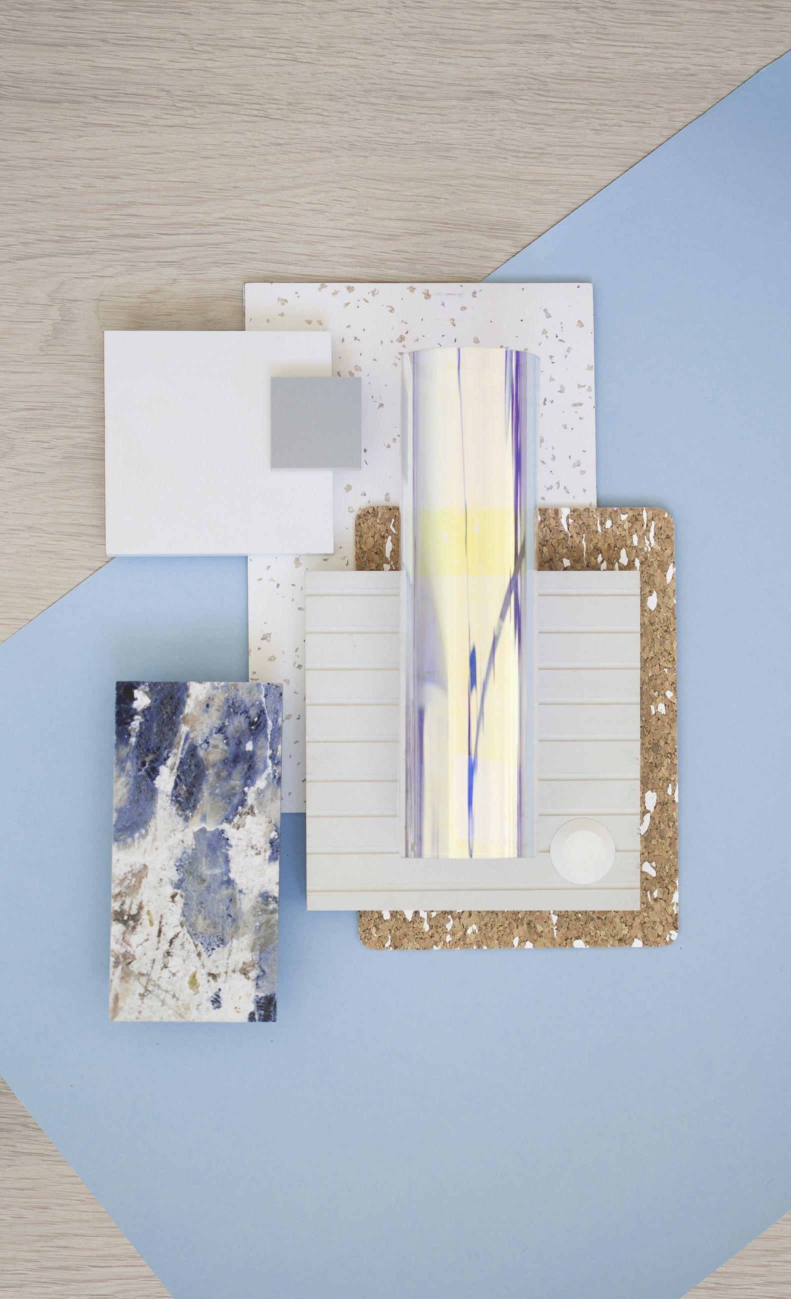 Weekly Material Mood Lapis Blue Optical Texture Amorim Cork Design Interior