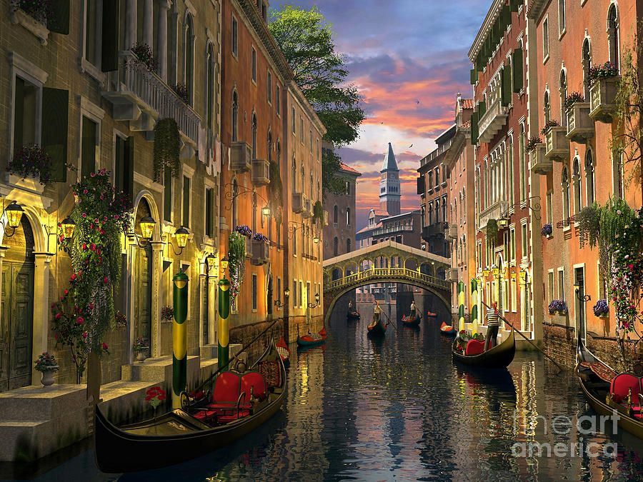 Venice At Dusk by Dominic Davison