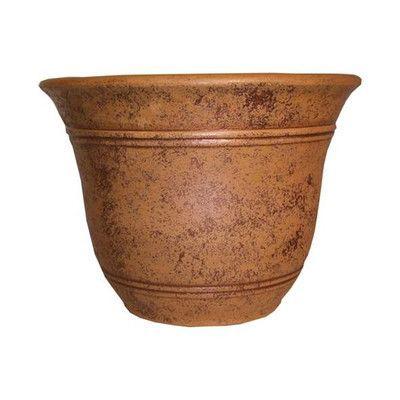 Akro Mils Lawn U0026 Garden Sierra Resin Pot Planter With Saucer | Wayfair