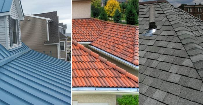 Metal Roofing Vs Roof Shingles Vs Roof Tiles Vs Slate Roof Roofing Prices Metal Roof Tiles Metal Roof