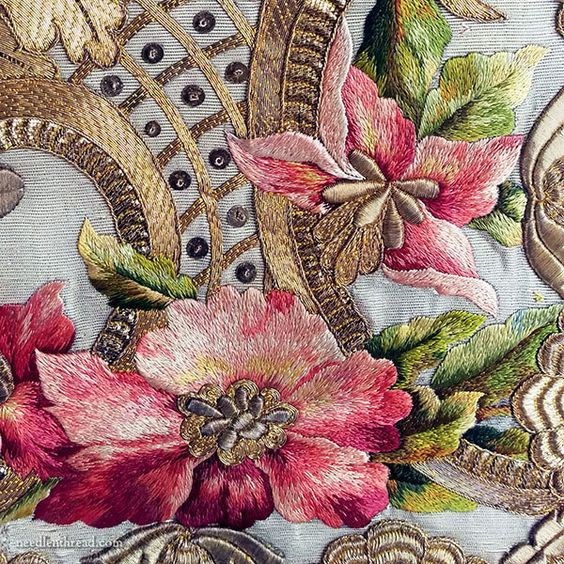 Silk Roses & Goldwork...and Something Else? | Brazilian embroidery, Embroidery flowers