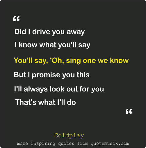 Moving On Move Quotes Coldplay Sparks