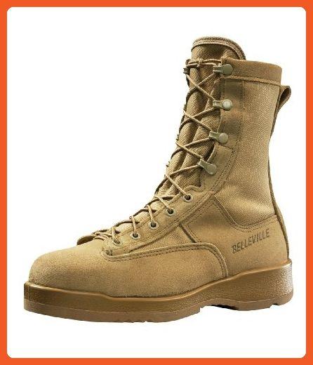 7b40de46387a Belleville Men s Hot Weather Steel Toe Flight Boot Tan 330DESST 7.5 Regular  - Boots for women