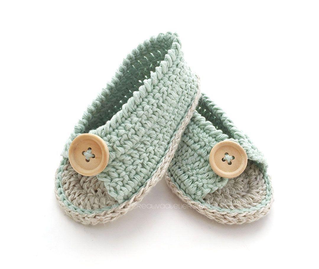 Sandalias de Crochet de Bebé FÁCIL [ Tutorial y Patrón GRATIS ] | Bb