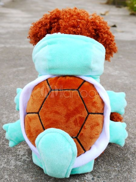 Halloween Dog Costume Squirtle Pokemon Green Jumpsuit Pet Costumes