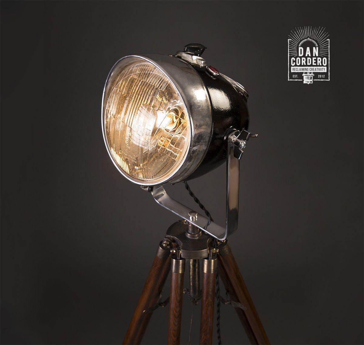 Motorcycle Headlight Floor Lamp in 2020 Floor lamp