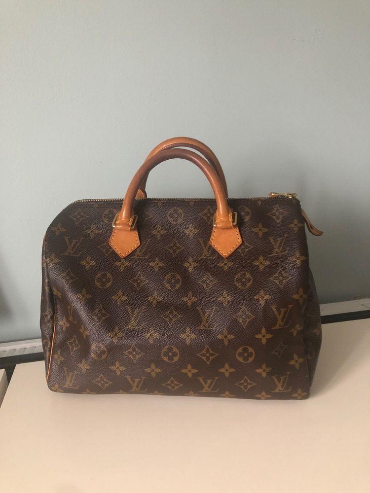 22af1199e78d Authentic Louis Vuitton Hand Bag Speedy 30 M41526 Browns Monogram 324465   fashion  clothing