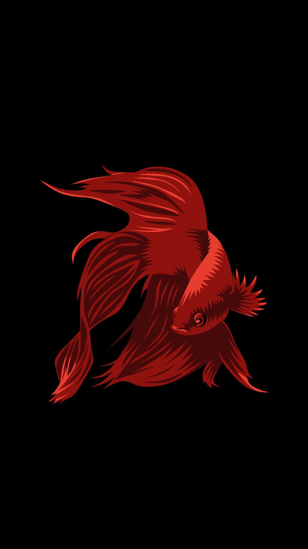 Black Background With Red Fish Profile Wallpaper Star Wars Painting Dark Wallpaper