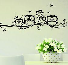 Con Dibujo De Búho aves extraíble pegatinas de pared calcomanía Kids Niños Infantiles Casa Habitación Decoración