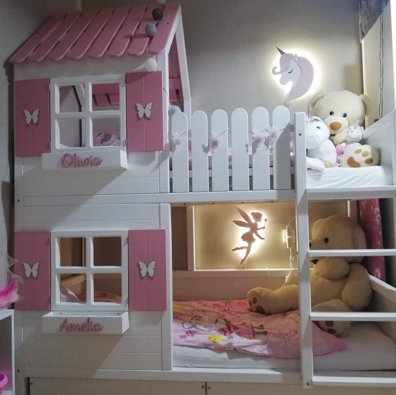 Bunkbed Hausbett Lozkodomek Dreambeds Kinderbett Jugendbett Etsy Kid Beds Dreams Beds Bed