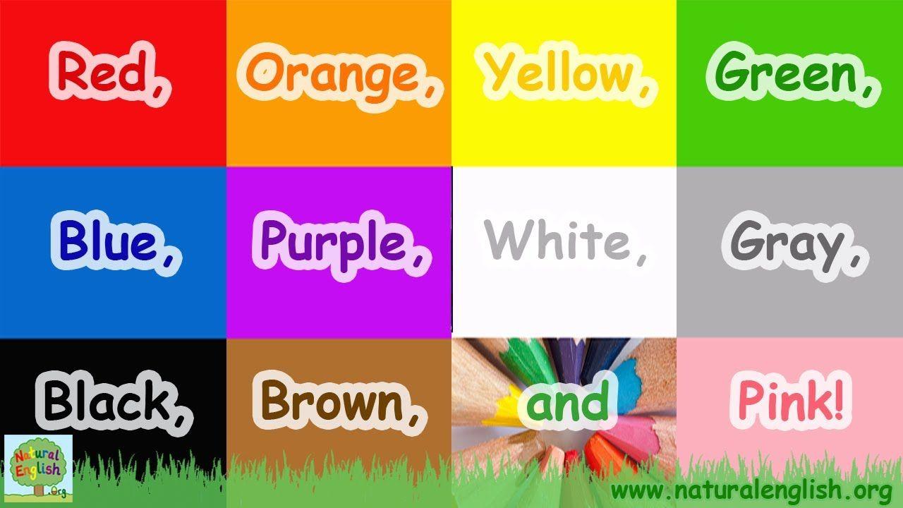 YouTube   Color songs, Learn english, Preschool songs