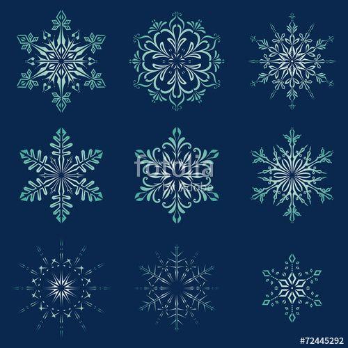 Vektor: Christmas Snowflakes