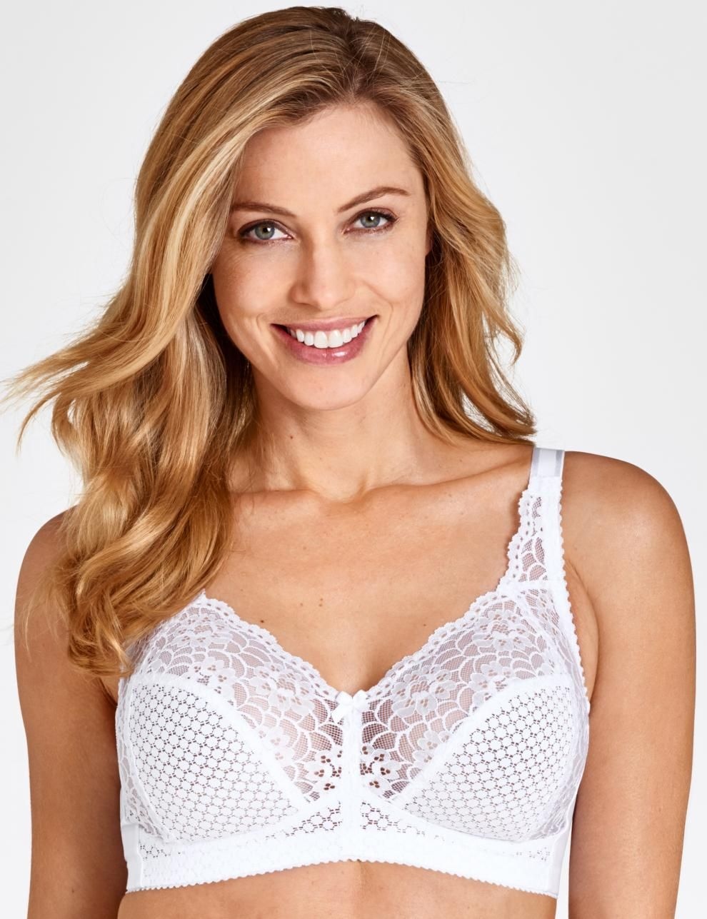 3bbafd205 Cotton Dots and Lace bra  46.99 Soft cup bra in firm cotton lave in under  cup and at front. Elastic cotton lace in top cup and at the side gives  support and ...