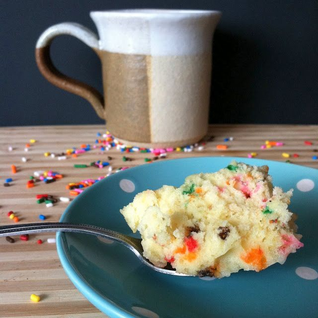 Funfetti Mug Cake | Mug recipes, Mug cake, Mug cake eggless