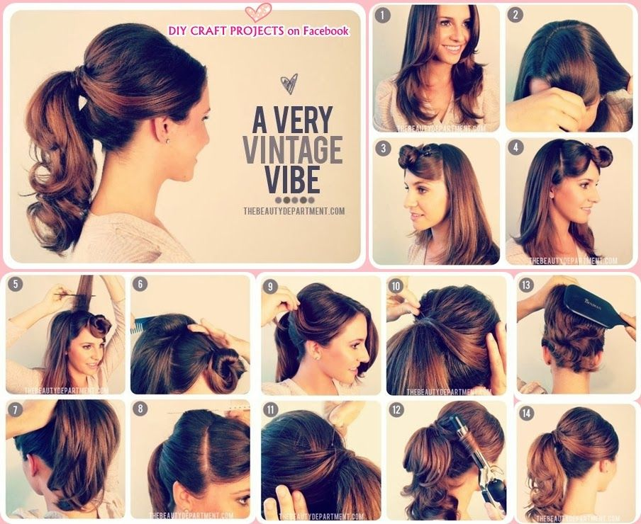 15 Different Ways To Make Cute Ponytails Pretty Designs Hair Styles Vintage Ponytail Ponytail Hairstyles Easy