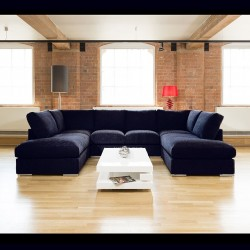 Quatropi Velvet Sofa Set Corner U Shape