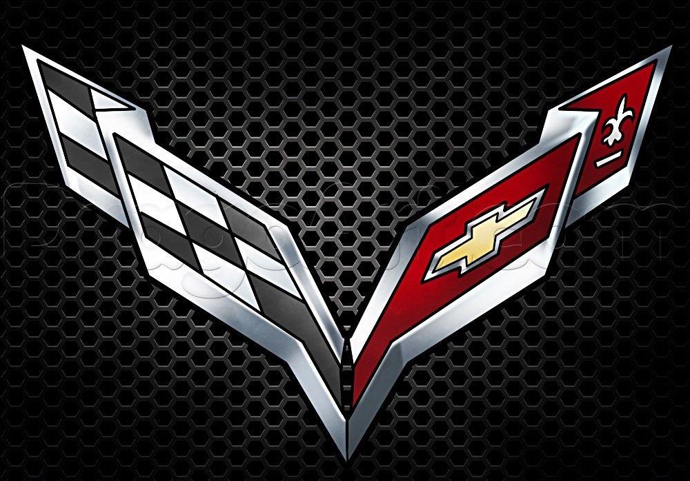 6.99 Chevy Corvette Logo Chevrolet Refrigerator