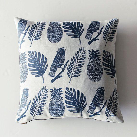 Tropical Pillow Case Blue von