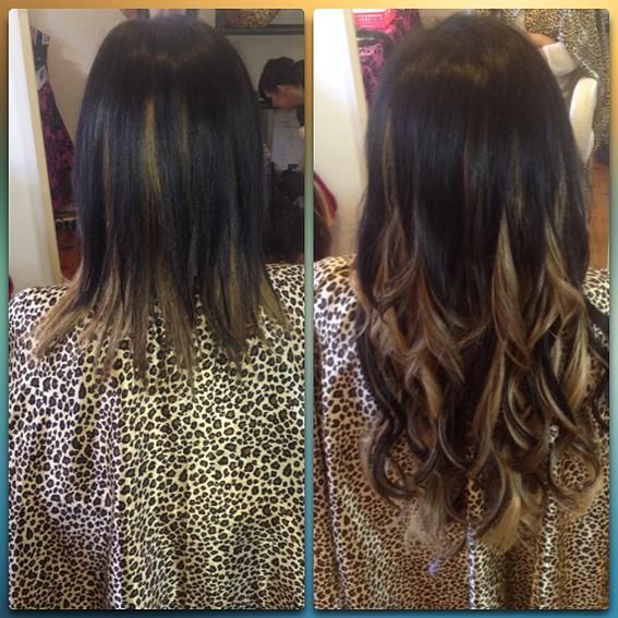 Hair Extensions Adelaide Before Afters Show Off Academy Ombre