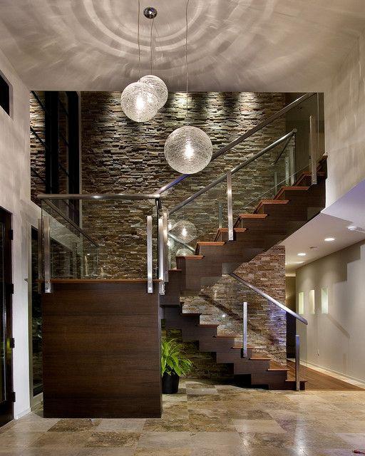 21 Best Modern Entry Design Ideas Casas de lujo Escalera y Interiores