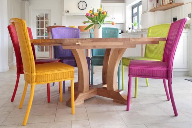 Stamford Dining Chairs In Various Bright Colours By Lloyd Loom Of Spalding Dining Chair Makeover Colored Dining Chairs Colorful Dining Room Chairs