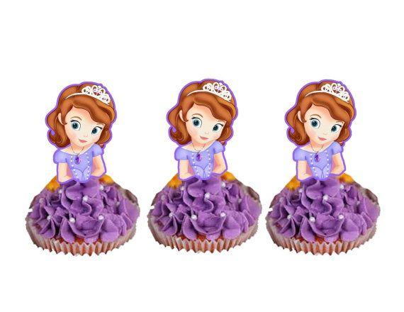 Princess Sofia The First Cupcake Topper Or Cake Pop Topper