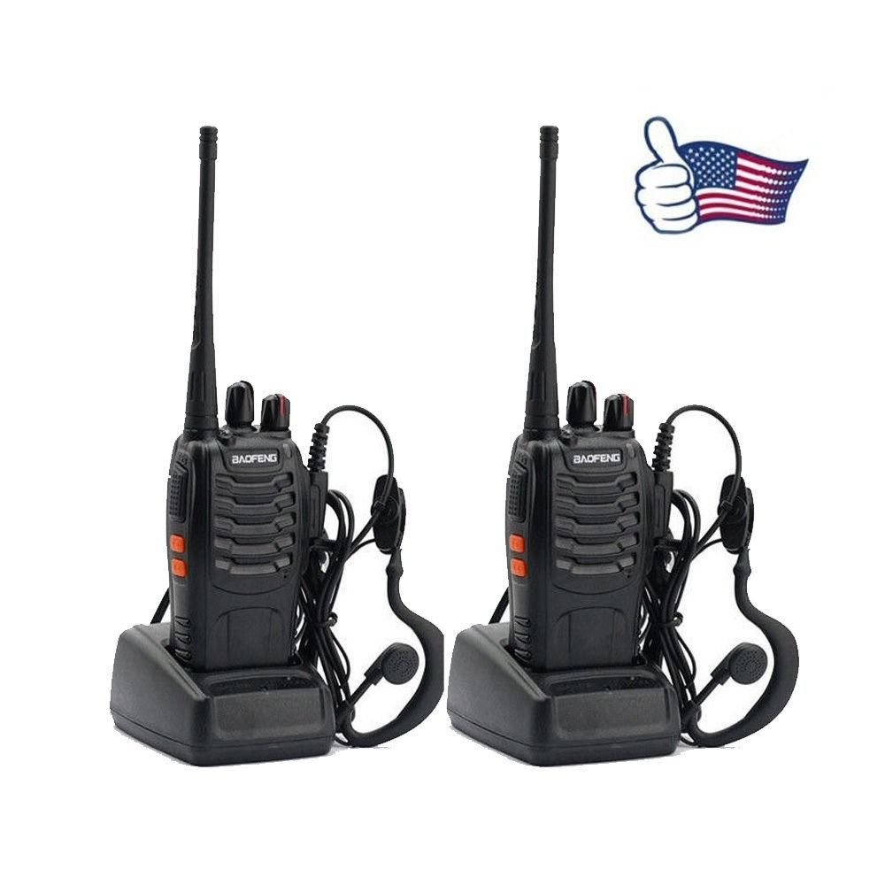2x BAOFENG BF-888S UHF 400-470MHz 5W 16CH Ham Two Way Radio