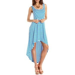 Charlotte Russe High Low Striped Dress