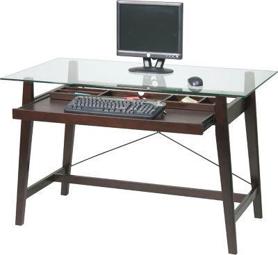 Osp Designs Tremont Desk Glass Top Desk Cool Office Desk Office Desk