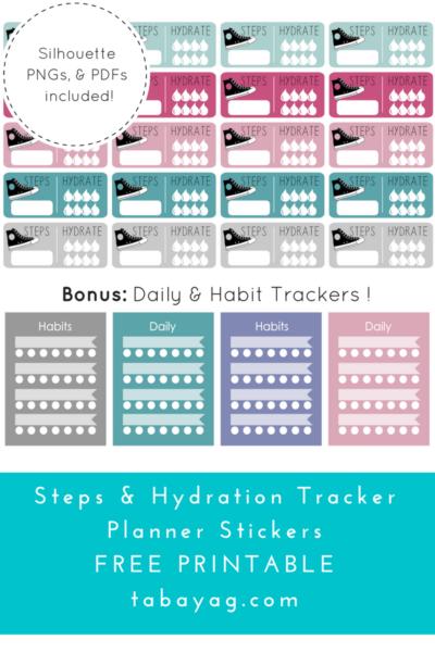 PlanIt! Step, Hydration, & Habit Tracker Stickers – Free ...