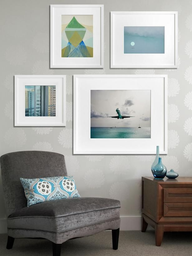 How To Create an Art Gallery Wall : Decorating : Home & Garden Television by Jeanine Hays.  Image from @20x200.
