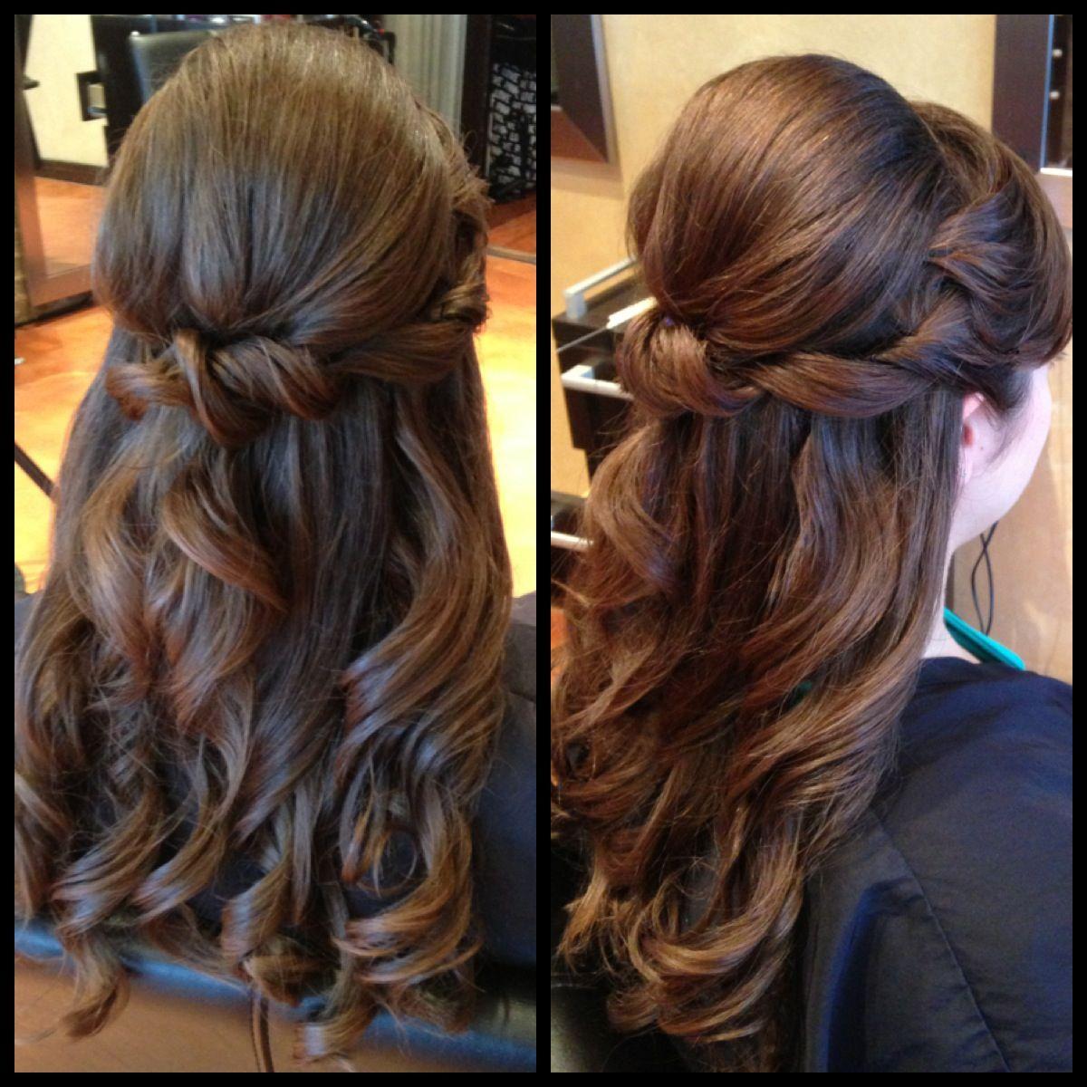 1 2 Updo Prom Hair Wedding Hair Bride Hair Styles Bridesmaid