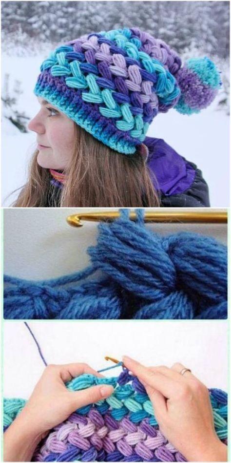 Braided Crochet Pattern - Puff Stitch Free Video Tutorial | Crochet ...