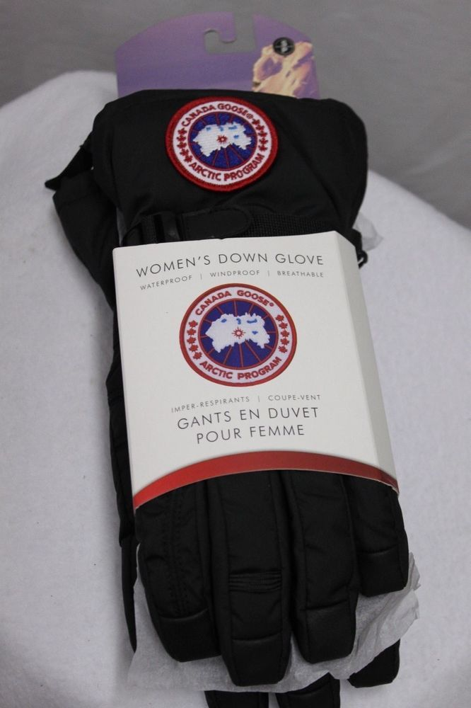 Canada Goose Women's Down Glove Waterproof Black Down Fill 525 MSRP $125 NEW…