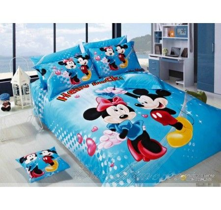 Best Blue Mickey And Minnie Mouse Bedding Wallpaper Design 400 x 300