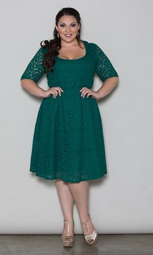 Emerald jeweled dress plus size