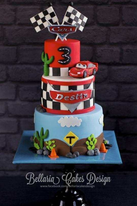 Cars Birthday Cake Party Ideas 3rd Birthday Cakes Disney Cars