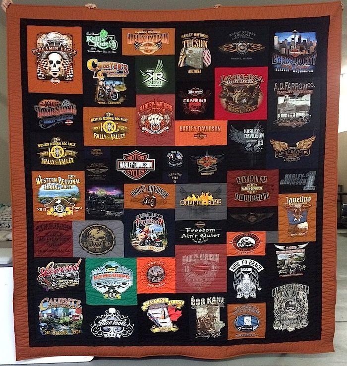 Harley Davidson T Shirt Quilt Shirt Quilt Harley Davidson T Shirts Tee Shirt Quilt